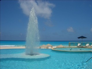 Stunning Caribbean views at Bay View Grand Cancun condo rentals