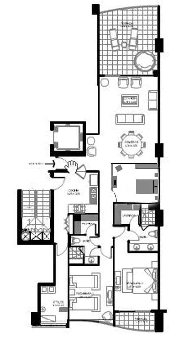 portofino bay view grand condo floor plan