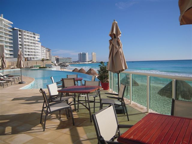 Infinity pool overlooking Caribbean
