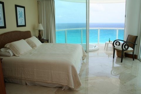 Another view of Master Bedroom suite with oceanfront terrace