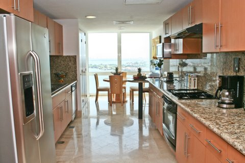 Another view of the ultra modern fulll kitchen