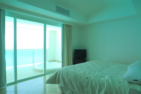 Master bedroom with full bath and access to oceanfront terrace