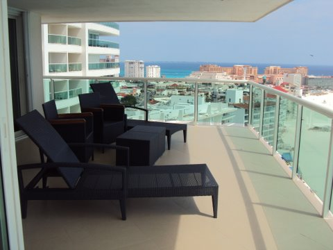 Another view of the extra large ocean view patio which sits on the 17th floor and offers 100% privacy