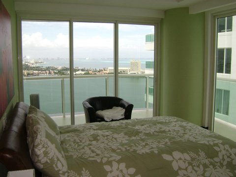 Guest suite 4 with city view terrace, full bath, walk in closet and 32 inch lcd tv