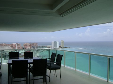 huge 500 square foot oceanfront patio with jacquzzi, and luxury outdoor furniture