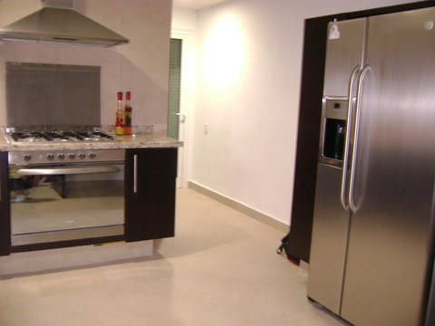 another view of the ultra luxury contemporary kitchen
