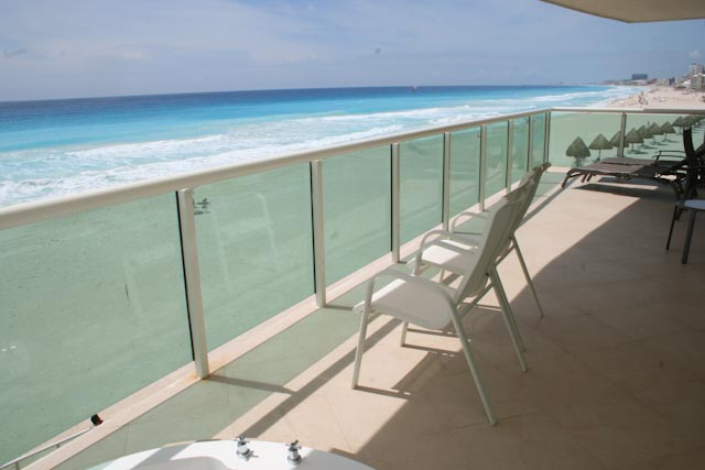 Oceanfront patio with amazing views and over 400 square feet